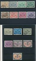 Generalgouvernement Dienst Mi.Nr.1-15 gestempelt