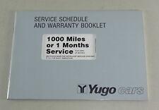 Scheckheft Servicebook Yugo 45 /55/65/311/ 511/513