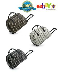 New Women's Stylish Patterned Printed Holdall/Travel Bag With Wheels Three Color
