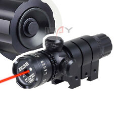 DELIVERY 532nm Tactical Red Laser Sight Rifle Scope w/ 2 Mounts 2 Switches