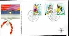 Dutch Antilles / Aruba - 1993 Sailing - Mi. 125-27 clean unaddressed FDC