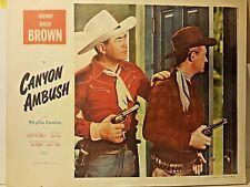 Johnny Mack Brown Canyon Ambush 1952 Monogram Pictures Lobby Card 80