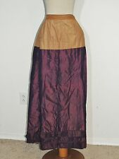 Victorian Iridescent Purple Silk Bustle Underskirt SM