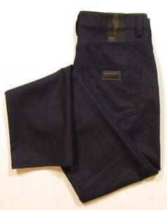 Armani Collezioni Men's J15 Regular Fit Dark Blue Straight & Tight Leg Wool Pant