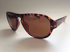 Lucky Brand Aviator Sunglasses New Authentic Keyhole Recruiter Brown Tortoise 57
