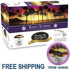 Hawaiian Isles Kona Coffee Co SUNRISE Dark Roast K-Cups Single Serve Pod Keurig*