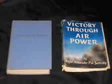 VICTORY THROUGH AIR POWER 1942 hc CLEAN BOOK w/ DJ Major Seversky Air Force