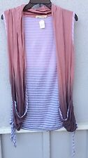 $60 New Gypsy Daisy Brand Multi Color Stripe Sleeveless Cardigan Size S