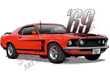 1969 Mustang Boss 302 Vinyl Sticker First Generation