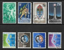 1962 - 64 Queen Elizabeth II SG120 to SG127 Set of 8 Stamps Fine Used TANGANYIKA