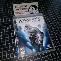 (REPLACEMENT CASE+MANUAL) ASSASSIN'S CREED PS3 PLAYSTATION 3 (NO GAME INCLUDED)