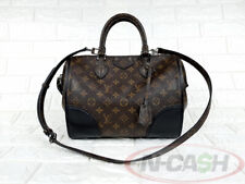 BIDSALEONLY! AUTHENTIC $2960 LOUIS VUITTON M50482 Shine Noir Monogram PM Doc Bag