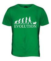 Terrier Ecossais Evolution de L'Homme T-Shirt Haut Chien Marche