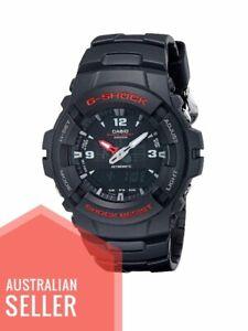 Casio G-100-1BV Men's G-Shock Analog - Digital Watch Dual Time Alarm New 20ATM