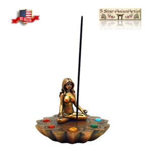 Stick Incense Burner: Yoga 7 Chakras, Round (NEW)