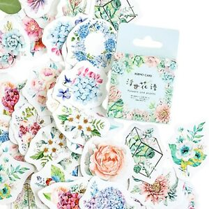 FLORAL STICKERS Flower Garden Scrapbook Journal Diary Craft Card Decoration