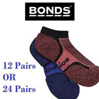 12 / 24 PAIRS PACK TRAINING SOCKS Bonds Womens Ultimate Low Cut Purple Blue