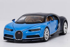 Welly 1:24 Bugatti Chiron Blue Diecast Model Car Vehicle New in Box