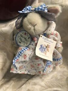"""NABCO Hoppy VanderHare 8"""" Bunny Rabbit, Garden Party Outfit, Tags"""