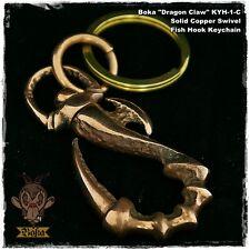 Boka Dragon Claw Copper Swivel Key Chain Hook Biker Wallet Fob Harley Motorcycle