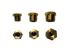 """Brass fittings for transducer, temp, oil senders, 1/8"""" to 1/4"""", 3/8"""", 1/2"""" NPT"""