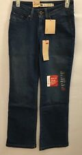 NEW Womens Levis Medium Wash 529 Curvy Boot Cut Jeans with Stretch 2 Petite