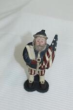 Sarahs Attic Resin Collectible Figurine Santa 1988 #A177 - Patriotic Flag