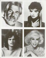 Kenny Rogers Joan Rivers Sheena Easton Bj Thomas b&w publicity still photo
