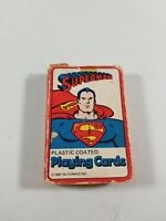 1981 Nasta Superfriends Plastic coated SUPERMAN Playing Cards Vintage 50 CARDS