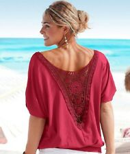UK Womens Loose T Shirt Short Sleeve Blouse Ladies Casual Summer Tops Plus Size
