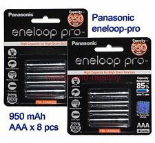 Panasonic eneloop-pro AAA Battery x 8 pcs 950mAh Made in Japan 02/2015 FREE POST