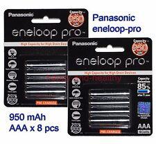 Panasonic eneloop-pro AAA Battery x 8 pcs 950mAh Made in Japan 01/2015 FREE POST