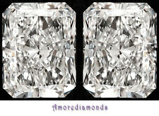 1.23 ct GIA DE IF natural radiant diamond solitaire stud earrings 18k white gold