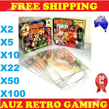 N64 / SNES Thick GAME BOX PROTECTORS Cases Nintendo 64 BOXED Games