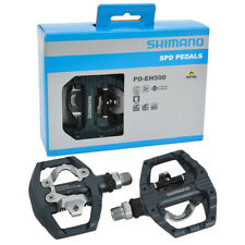 New  PD-EH500 Pedals SPD Road Bike Touring Pedals With SPD Cleats One Set