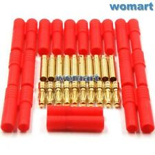 10sets 4.0mm Gold-plated Copper Banana Connector plugs w/ Protector Cover 10#