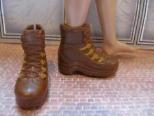 Ken Doll Clothes Fashionista ~Brown Camping Hiking Boots-Waffle Stompers Shoes