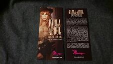2x Paula Abdul Forever Your Girl Las Vegas Show Flamingo Hotel Flyer Casino Card