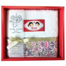 prima rosette using by LIBERTY FABRICS Peko-chan Face Towel pink Gift Box