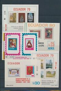 XC89020 Ecuador perf/imperf mixed thematics sheets XXL MNH