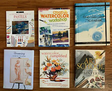 Watercolor & Painting 6 Books-Learn To Do People/Animals/ Landscape/Still Life++