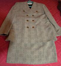 Vintage Tailleur ELECTRE Paris Prince de Galles jupe + veste / blazer T.36/38
