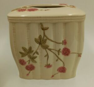 Rose Garden Tissue Box Cover Country Cottage Bath Pink Roses
