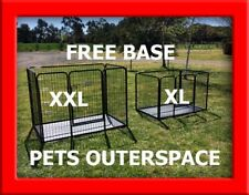 XL OR  XXL Heavy Duty Dog Cage 4 Sided Crate Puppy Play Pen Enclosure FREE BASE