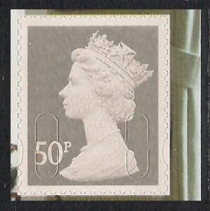 GB 2011 sg U2917 50p Grey M11L MPIL s/a William Morris booklet stamp MNH