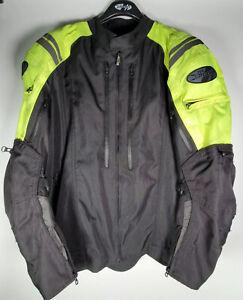 Joe Rocket Atomic 4.0 Jacket| Padded | Black & Neon | Vented | Men's Size 3XL