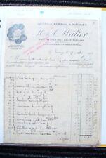 """ANCIENNE FACTURES - VIEUX PAPIERS - NANCY  1906 - """"  MÉTAUX  WALTER  """"A VOIR"""