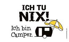 Gilde Brettchen -Ich bin Camper-Frühstücksbrett 23,5x14,5cm Geschenk Camping