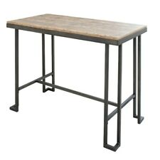 LumiSource Roman Counter Table, Antique, Brown Wood - CT-RMNAN-BN