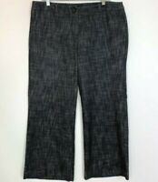 Sandro Size 14P Wide Leg Pants Casual Trousers Grey Stretch Womens 14 Petite